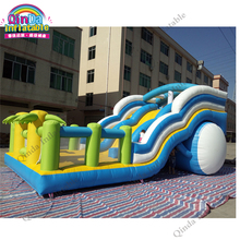 36*18*16ft Commercial PVC Inflatable Bouncer Inflatable Slide Bouncy Castle Combo For Rental