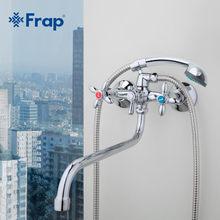Frap  Classic shower faucet Long trunk bathroom Bathtub mixer Hot and cold water dual control F2227