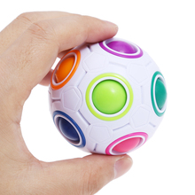Creative Spheric Magic Cube Rainbow Football Puzzle Magic Ball Children Learning and Education Twist Toy Gift