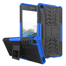 For Sony Xperia E5 Case 5.0inch Hybrid Kickstand Dazzle Rugged Rubber Armor Hard PC+TPU 2 In 1 With Stand Function Case(China)