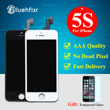 Bluehfixr AAA Quality LCD For iPhone 5S Screen Black/White For iPhone 5S Display Touch Screen Digitizer Assembly Free Shipping(China)
