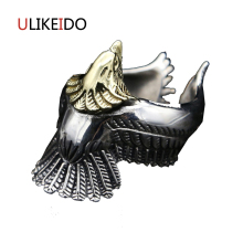 100% Pure 925 Sterling Silver Jewelry Takahashi Goros Rings Eagle Jewelry Opening Mens Signet Rings Birthday Gift 166