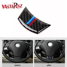 Buy Carbon Fiber Steering Wheel Sticker M stripe Emblem 3D Car Sticker bmw F10 F01 F07 5 series 7 series Car Styling Accessories for $4.49 in AliExpress store