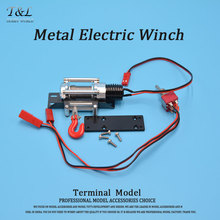 High Quality RC 4WD Metal Electric Winch For RC Truck 1/10 Scale D90 Axial Scx10 Wrangler Rock Crawler(China)