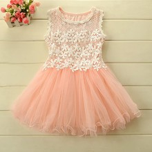2016 Baby Girls Summer Style Princess Dresses Baby Girl Clothing Children's Fantasy Girl Party Dress Girls Clothing Flower Dress(China)