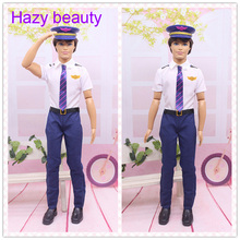 Hazy beauty Handsome New Perfect policeman set suits Clothes trousers For Barbie 1:6 boyfriend Ken Doll BBI00921(China)