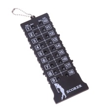 Counter-Indicator Putt Score Golf-Stroke 18-Hole with Key-Chain Black ISP Hot Card