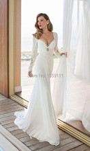 Fashional White Color Long Sleeve Turkish Julie Vino Wedding Dresses Patterns Made in China