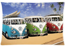 2014 New 3 VW Buses Custom Home Durable Cool Bedroom Setting Throw Pillow Cases Covers Retangle 40x60 cm Free Shipping