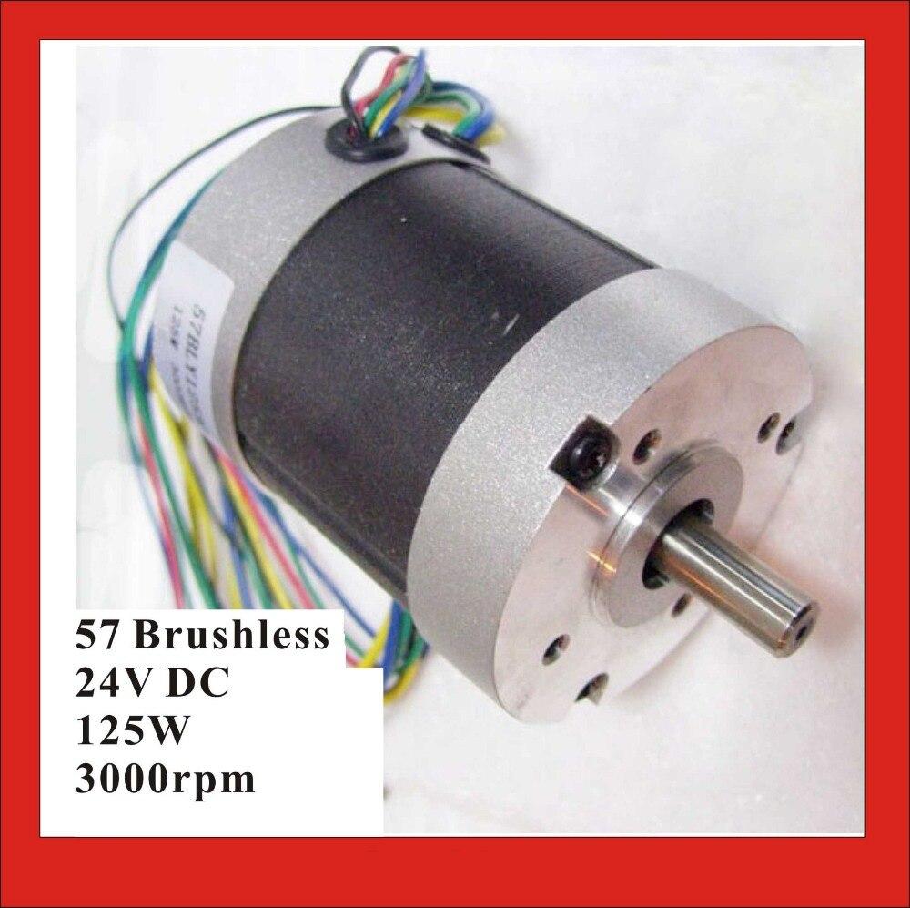 Abundant Inventory! Electric Nema 23 Motor Brushless DC Motor 125W 24V 3000rpm 3 Phase 57 BLDC Motor Nema 23<br>