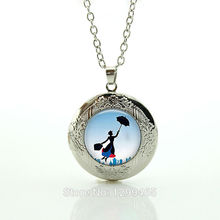 Vintage Mary Poppins Jewelry Colar Perfume Women Victorian lady Long Chain Necklac cartoon Sailor Moon locket pendant N770