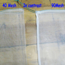 90 Mesh 15 X 10cm nylon net bag Soybean Milk juice filter liquid water filtering bag,soybean milk Vegetable juice machine parts(China)