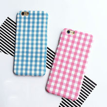 Fashion Lattice Square Print Mobile Phone Case For Iphone 5 5S SE 6 6S Plus Hard PC Phone Back Cover Protector YC1829