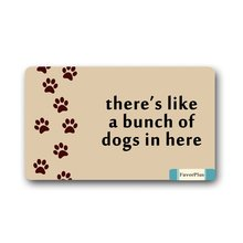 There's, Like A Bunch of Dogs in Here Doormat Door Mat Machine Washable Rug Non Slip Mats Entrance Decor Area Rug(China)