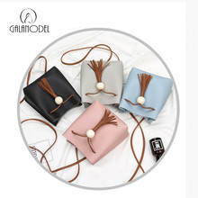 Galanodel 2017 Fashion High Quality Leather Women Bag Bucket Shoulder Bag Drawstring Bag Small Female Messenger Crossbody Bags(China)