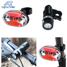 5 LED Bicycle5 LED Front light and 5 LED Tail light Set Night Cycling Mountain Road Bike Safety Light mtb Rear Lights Lamp Bac(China)