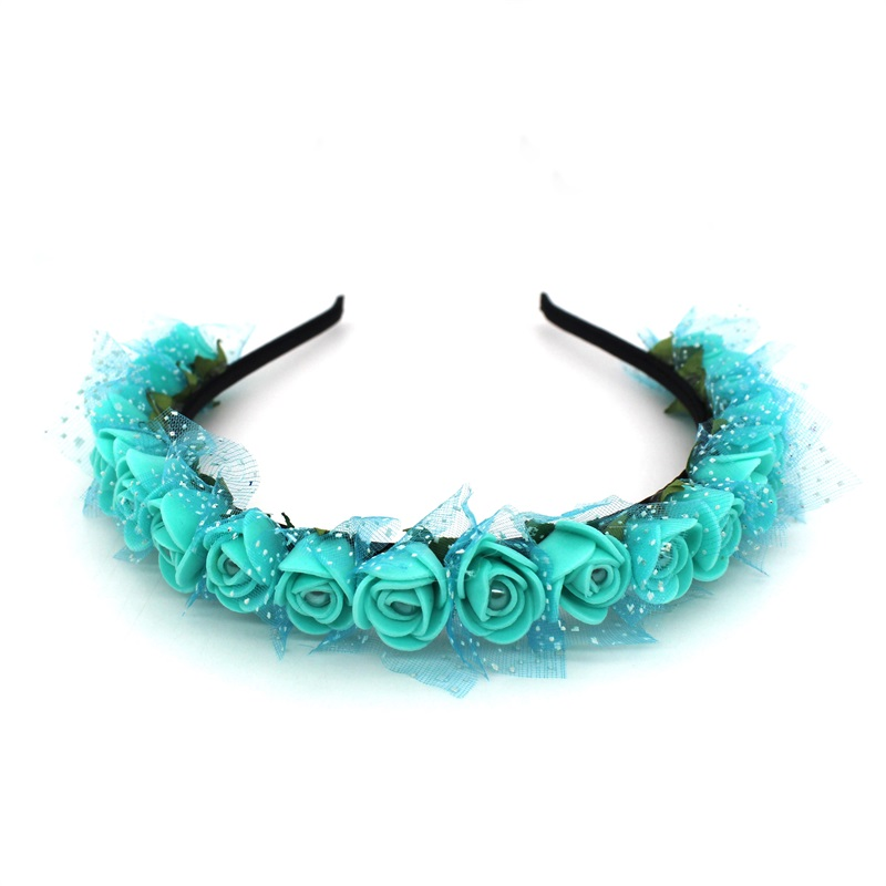 Lanxxy 17 New Fashion Pearl Flowers Hairbands for Girls Women Wedding Bridal Hair Accessories Floral Headbands 9