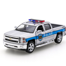 2017 Hot sell 1:32 Pickup Truck Diecast Alloy Metal Luxury Car Model Collection Model Pull Back Toys Car Gift For Boy(China)