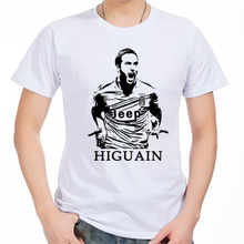 Juventus Men's Short sleeve t-shirt Gonzalo Higuain Pipita Serie A Italy Torino,Turin Argentina 100% cotton t-shirt jersey fans
