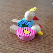2017 nenw arrive children playing musical instruments cartoon birds whistling wooden musical instrument toys LL43