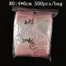 500Pcs/lot 6X4CM 5x7cm 6x9cm  Ziplock Lock zipped Poly Clear Bags Plastic Food storage bags Thick transparent package bags