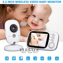 "New 3.2"" Video Baby Monitor Wireless Camera 2 Way Audio Intercom Night Vision Temperature Monitor Music For Baby Care"