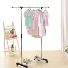 iKayaa US UK FR Stock Garment Rack Metal Height Adjustable Clothes Hanging Rack Width Extendable Clothes Organizer Clothes Rack(China)
