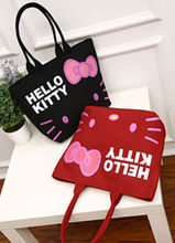 New Hello kitty Canvas Bag Shopping / Tote Bag Purse yey-1299(China)