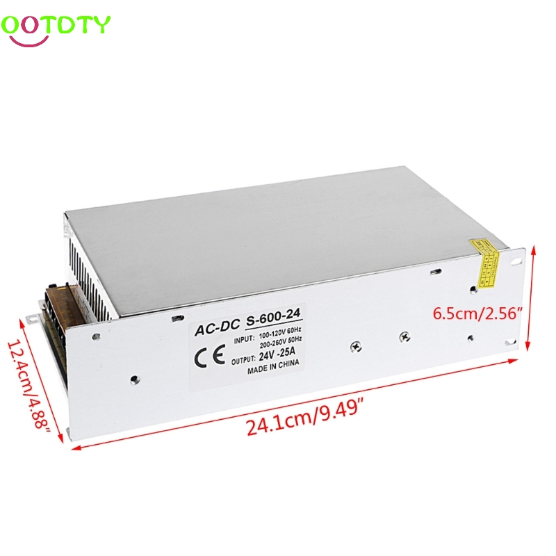 AC 100-260V To DC 24V 25A 600W Switch Power Supply Driver Adapter LED Strip Light  828 Promotion<br>