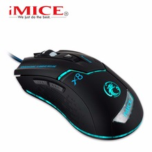 Estone iMice X8 Computer Gaming Mouse 1600 DPI USB Wired Mause Optical Mice with 6 Button LED Backlight for PC Gamer Wholesale(China)
