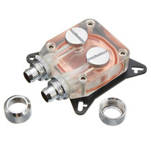 Transparent Water-based Cooler Waterblock PC GPU Water Cooling Block Copper 4 Hole Compression Fitting Liquid Cooler G1/4 W41