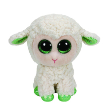 "Pyoopeo Ty Beanie Boos 6"" 15cm LaLa Lamb Plush Beanie Babies Stuffed Animal Collectible Soft Big Eyes Plush Doll Toy"