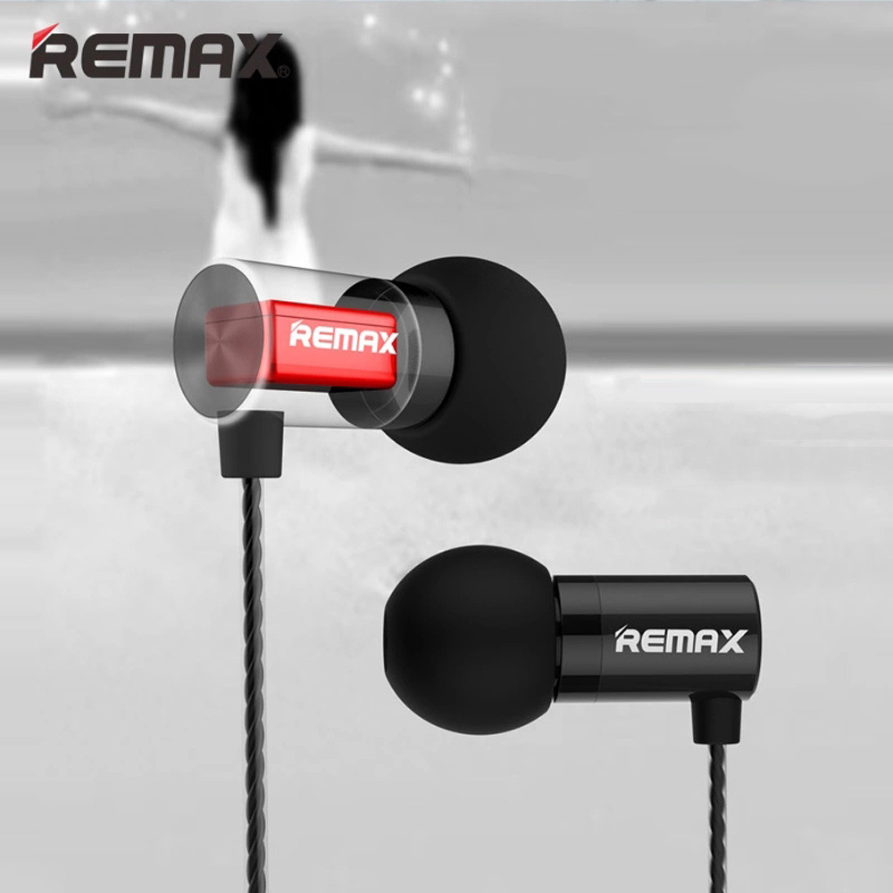 New REMAX Brand RM-600M Metal HIFI Moving Iron In-ear Earphone With Mic td818 dropship<br>