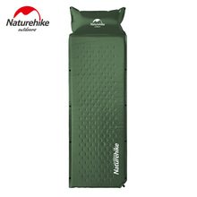 Outdoor Self-inflating Camping Mat With Pillow 3 Colors 1850x600x25mm Air Mattress Tent Bed Single Laybag Sleeping Mat 1kg(China)
