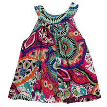 Hot Trendy Baby Kids Girl Summer Floral Sleeveless Floral Dress Princess Party Pageant Graceful Dresses Ethnic Clothing