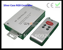 RF DC12V 144W led controller for RGB lights, led module, RGB led strips, flexible neon RGB lights. Silver aluminum case, popular