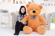 New 160cm 1.6m giant teddy bear plush toys children cute soft peluches baby doll big stuffed animals big sale birthday gift(China)