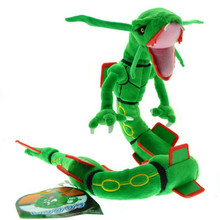 83cm Poke Center XY Plush Toy Green Rayquaza Dragon Plush Toys Doll Soft Stuffed Animals Toys Brinquedos Gift for Children