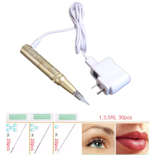Professional Tattoo Machine Pen For Eyebrows Permanent Makeup With 30pc Tattoo Needles and Tips forever make up Kit Rechargeable