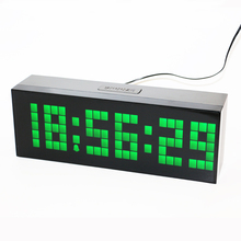 LED digital alarm clock countdown timer clock big green numbers for easy viewing Large size with seconds display green led digit(China)