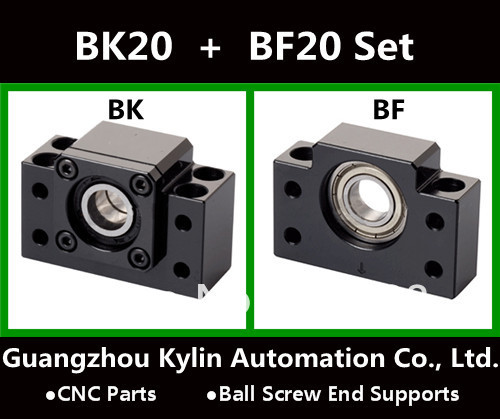 On Sale! BK20+BF20 Ball screw end supports for Ball screw SFU2505 support CNC XYZ parts<br>