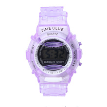 Creative Watches Children Unisex Silicone Watch Boys Girls Students Time Clock Electronic Digital LCD Wrist Sports Watch