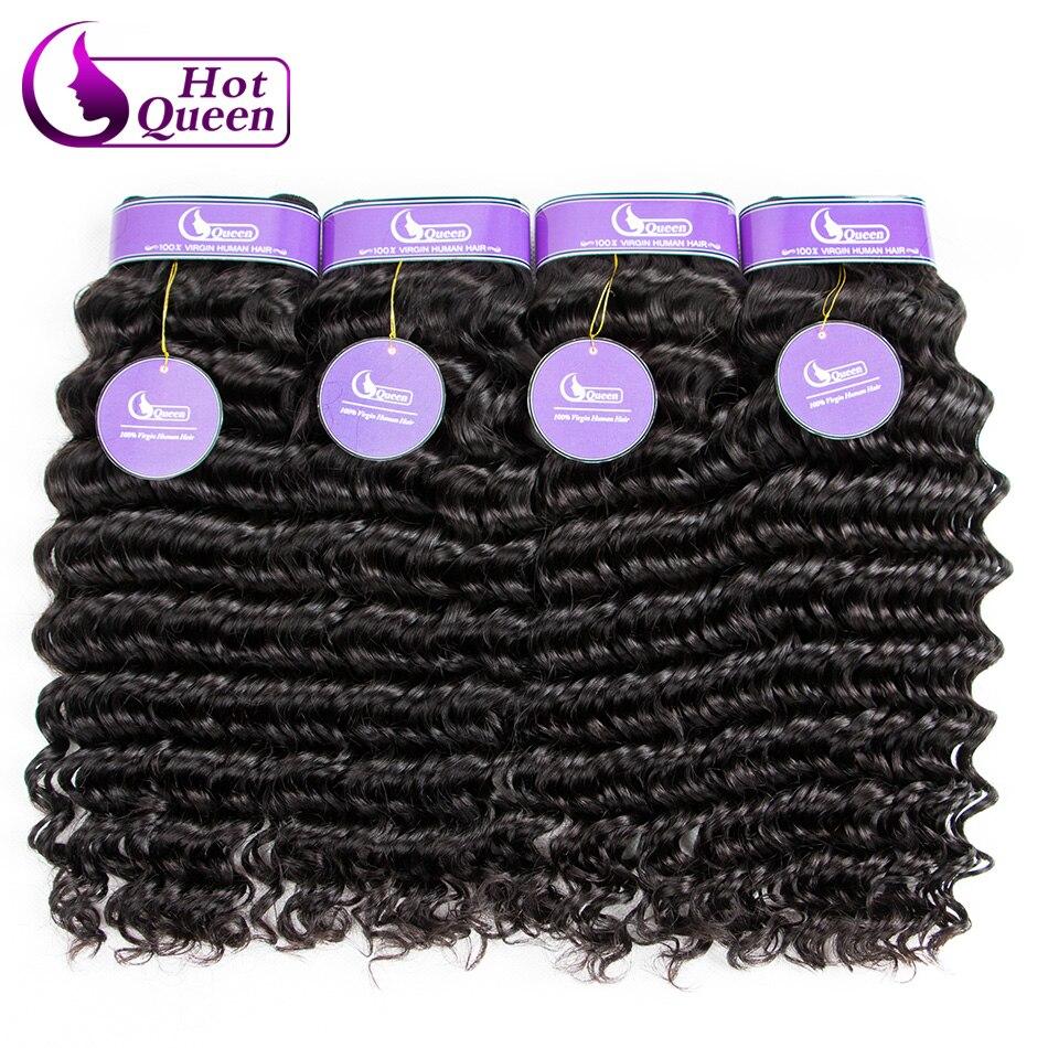 Deep Wave Malaysian Hair 4 Bundles Deal Curly Weave Human Hair Bundles Best Malaysian Virgin Hair 7A Grade Ali Moda Hair <br><br>Aliexpress