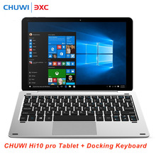 CHUWI Hi10 Pro 2 in 1 Ultrabook Tablet Keyboard Windows10 &Android5.1 PC 4G 64G 10.1 'IPS Intel Z8350 Quad Core Bluetooth HDMI