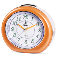 POWER Brand Silent Alarm Clock, Quartz Alarm Clock With Loud Mechanical Bell Birdsong Melody Alarm, Nightlight, Snooze(China)