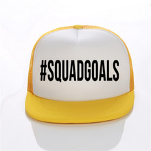 #SQUADGOALS Print Trucker Caps Hen's Party Hats Lady Bachelorette Wedding Flat Bill Hip-Hop Snapback Hat Gorras Free Shipping(China)