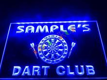 DZ030- Name Personalized Custom Dart Club Bar Beer Neon Sign  hang sign home decor shop crafts