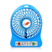 Droshipping Usb Mini Fan Portable Electric Fans Led Portable Rechargeable Desktop Fan Cooling Air Conditioner Portable Fan
