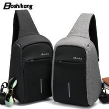 Boshikang New Men Crossbody Bag Travel Fashion Oxford Hot Summer Chest Bag Male Sling bag Daily Life Daypack Messenger Bag