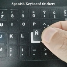 5pcs Computer ESP Spanish Keyboard Stickers For Macbook Air Pro 11 13 15 Laptop Spanish Keyboard Skin Cover Sticker for iMac